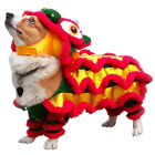 M-XL Pet Dog Lion-Dance Dragon Dance Apparel Puppy Chinese New Year Costume Gift