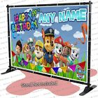 Paw Patrol Birthday Banner Party Backdrop Decoration Poster Sign, Design C kid
