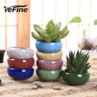 Ice-Crack Ceramic Flower Pots For Juicy Plants Small Bonsai Pot Home and Garden