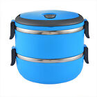 USA hot Unisex 1-5Layer Lunch Box Steel Thermo Insulated Thermal Food Container