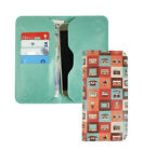 Textured PU Leather Magnetic Slim Wallet Case Cover Sleeve Fits JVC Phones