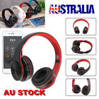 wireless bluetooth headphones noise cancelling headset over ear with mic au