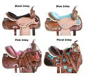 Barrel Saddle 16 14 15 17 Cowboy Leather Trail Show Racer Western Horse Tack Set