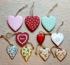 Vintage Shabby & Chic Hanging Hearts Home Wedding Valentines Decoration Gift