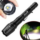 130000LM T6 LED Zoom Rechargeable High Power Torch Flashlight Lamp Light Charger