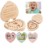 Внешний вид - Boy Girl Kids Tooth Box Organizer For Baby Save Milk Teeth Wood Storage Box Hot