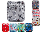 Baby Cloth Diapers One Size Reusable Pocket Nappy For Newborn+ 1 Insert