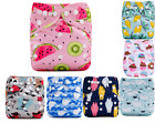 Baby Cloth Diapers One Size Reusable Pocket Nappy For Newborn baby 1 Insert