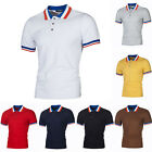 Men's Polo Neck Fit Slim Shirts Short Sleeve Casual Golf T-Shirt Jersey Tops Tee