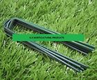 FULL GREEN ARTIFICIAL GRASS TURF U-PINS GALVANIZED METAL U-PINS PEGS / STAPLES.
