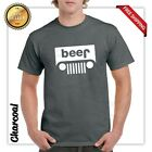 Beer Jeep Logo Parody Drinking Humor Mens Graphic T-Shirt Funny Logo Parody Tee image