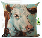 Farm Yard Animal Cushion Covers! COW PIG DOG Retro animal Art Pillow Gift 45cm