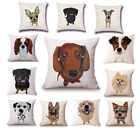 UK Dog Breed Cushion Covers! 20+ BREEDS IN STOCK 45cm Puppy Throw Pillow Gift