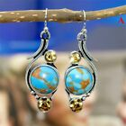 Ear Stud Boho Gemstone Turquoise Dangle Earrings Citrine Natural Stone Eardrop