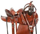 Trail Saddle 15 16 17 Cowboy Endurance Western Black Leather Horse Tack Set