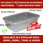 Clear Plastic Quality Containers Rectangular Tubs with Lids Microwave Food Safe