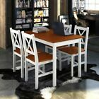 5 Piece Dining Table Set And 4 Chairs Wood Kitchen Room Breakfast Home Furniture