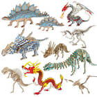 Colorful 3D Wooden Puzzle Simulation Animal Fun Gift Dinosaur Assembly DIY Model