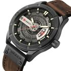 CURREN 8301 Leather Creative Mens Wrist Watches Date Display Casual Quartz Watch image