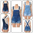Women Overall Washed Denim Jumpsuit Distressed Denim Overalls Shortall (S-3XL)