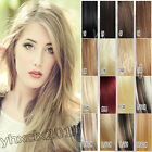 New Full Head Best Quality Clip in Human Hair Extensions Any Color 14-30inch