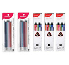 MONAMI BAUHAUS Triangular Pencils With Eraser Top 6pcs ,12pcs HB/B/2B