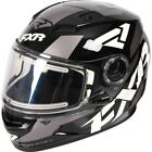 FXR Nitro Core Youth Snowmobile Helmet Black/White/Charcoal Gray