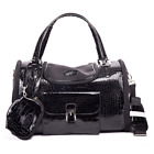 Parisian Pet Croc Dog Carrier Black Small and Medium Approved for Most Airlines