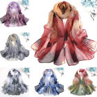Kyпить Summer Women's Georgette Soft Scarves Long Floral Beach Shoulder Wrap Silk Scarf на еВаy.соm