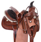 Kids Western Saddle 12 13 Pleasure Trail Roping Roper Youth Leather Horse Tack