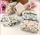 Multi Color Cute Floral Print Flower Women Coin Change Purse Wallet Cloth New!!! photo