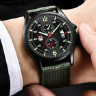 Military Stainless Steel Waterproof Date Quartz Analog Army Men's Wrist Watches image