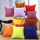 Solid Color Square Home Sofa Decor Pillow Cushion Cover Case 16 18 20 22 24 Lot