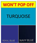 Won't Pop Off Queen Sheet Set Deep Pocket, Royal Blue Turquoise Navy Blue Queen image