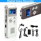 New Rechargeable 8GB Digital Audio/Sound/Voice Recorder Dictaphone MP3 Music