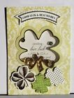 Greeting Cards Handmade w/ Anna Griffin Shaker designs: St Pats Easter Birthday