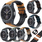 Genuine Leather & Silicone Watch Band Strap For Samsung Galaxy Watch 42/ 46mm US image