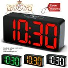 Alarm Clock Large Display Adjustable Dimmer USB Charging Port 12/24 Hour Display