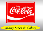 Coca Cola Decal Sticker Wall Window Vintage Decor Men Cave Vinyl Enjoy #2 £12.2  on eBay