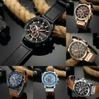 Curren 8291 Men Leather Band Strap Watch Mechanical Relogio Masculino Watch DT image