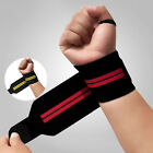 Mens Gym Wrist Wrap Weight Lifting Training Fitness Glove Bar Grip  Strap