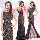 Ever-Pretty US Black Lace Evening Dresses Long Fishtail Formal Prom Gown 08859