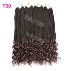 Senegalese Twist Crochet Braids Curly End Synthetic Braiding Hair Extensions