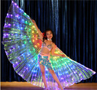 S03 Girls Kids Childrens LED Isis Wings Belly Dance Light Show Costume Egyptian