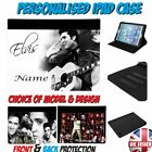 ELVIS PRESLEY PERSONALISED FAUX LEATHER IPAD CASE - All Models