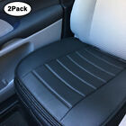 Universal Deluxe Car Cover Seat Protector Cushion Black Front Cover PU Leather