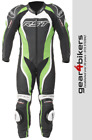 RST Tractech Evo 2 1415 One Piece GREEN Motorcycle Leather Suit Track Race 1