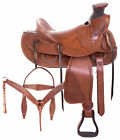 Cowboy A Fork Western Roping Used Ranch Saddle Leather Horse Tack 15 16 17 18