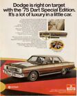07567 1975 DODGE DART CAR AD ART Wall Print POSTER US $48.06 CAD on eBay