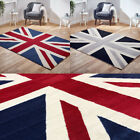 British Union Jack Flag Area Budget Rug Red Blue Black Grey Free UK Delivery*